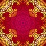 Reiches Goldnahtloses Muster in der indischen Art Stockbild