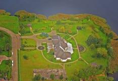 Reiches Hausflugzeugfoto Stockbild
