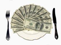 Reiches Mittagessen Stockfoto