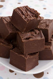 Reiches Schokoladenfondant Stockfotos