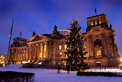 Reichstag weihnachten berlin stock photo