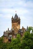 Reichsburg Cochem en el Mosela Imagenes de archivo