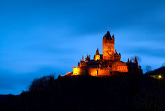 Reichsburg in Cochem at night Royalty Free Stock Photos