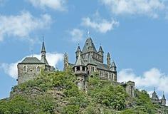 Reichsburg Cochem slott, Tyskland Royaltyfria Foton