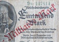 Reichsmark Билл Deutsche, исторические деньги стоковые фотографии rf