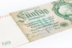 Reichsmark femtio Arkivfoton