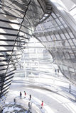 Reichstag中央反射器和遮阳纸 免版税库存照片