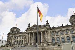 Reichstag在柏林德国 库存图片