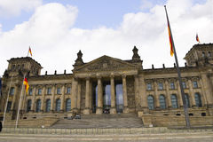 Reichstag在柏林德国 免版税库存图片