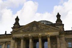 Reichstag在柏林德国 库存照片
