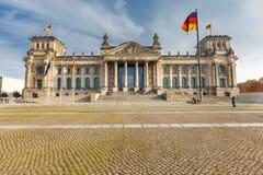 Reichstag在柏林 免版税图库摄影