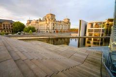 Reichstag堤防 免版税图库摄影