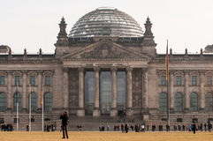 Reichstag大厦在柏林 免版税库存图片