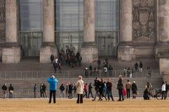 Reichstag大厦在柏林 图库摄影
