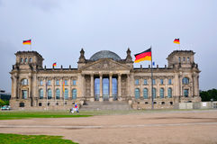 Reichstag大厦,柏林德国 库存照片