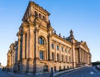Reichstag大厦,西部门面,柏林,德国 库存照片
