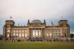 Reichstag的大厦是联邦议会的州议会的大厦 Reichstag大厦是一  免版税库存照片
