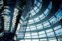 Reichstag透明圆顶 图库摄影