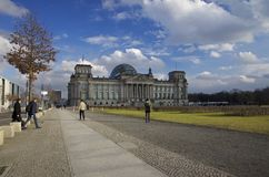 Reichstag που χτίζει το Βερολίνο, Γερμανία Στοκ Φωτογραφίες