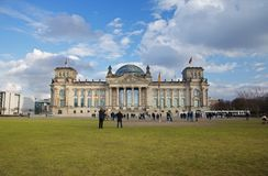 Reichstag που χτίζει το Βερολίνο, Γερμανία στοκ εικόνες