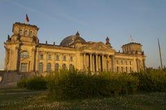 Reichstag в Берлине Стоковые Изображения RF