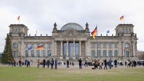 Reichstag - историческое здание где в летах 1894-1933 внутри Стоковая Фотография