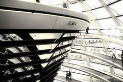 reichstag купола berlin стоковое изображение
