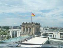 Reichstag, парламент в Германии, крыше стоковое изображение