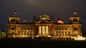 Reichstag, привлекательность в Берлине, Германии Стоковое Изображение RF
