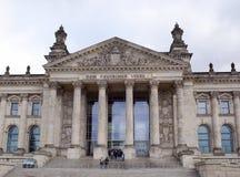 Reichstag -一个历史建筑在岁月1894-1933寸 库存照片
