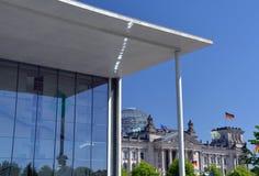 Reichstag :德国议会,柏林,德国 免版税库存图片