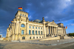 Reichstag在柏林,德国 免版税库存照片