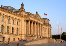 Reichstag. German Parliament in Berlin Stock Photography