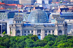 Reichstag大厦,柏林德国 库存图片