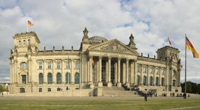 Reichstag Foto de Stock Royalty Free