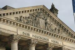 Reichstag Στοκ εικόνα με δικαίωμα ελεύθερης χρήσης