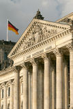 Reichstag. German Parliament with Germany flag Stock Photo
