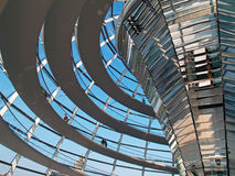 Reichstag. The glass dome of the German Parliament, the Reichstag, in Berlin, Germany Stock Images
