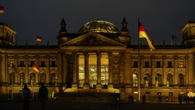 Reichstag, attraction in Berlin, Germany. Europe Royalty Free Stock Photos