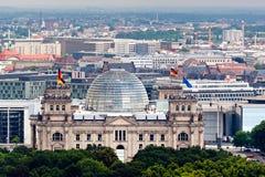 Reichstag in Berlijn Stock Foto