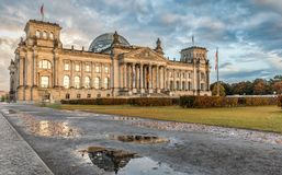 Reichstag in Berlijn, Duitsland Royalty-vrije Stock Foto