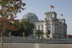 Reichstag, Berlin. German parliament, the Reichstag in Berlin Royalty Free Stock Images