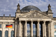 The Reichstag in Berlin Royalty Free Stock Photo