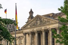 Reichstag in Berlin stockfoto