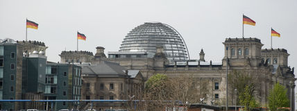 Reichstag berlin. Berlin landmark reichstag with glass dome stock photography