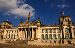 Reichstag in Berlin. The german parliment building the Reichstag Stock Image