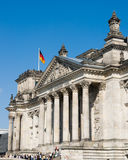 Reichstag in Berlin. Front side of the Reichstag, the German parliament, in Berlin Stock Images
