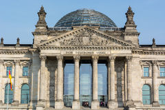 Reichstag Berlin close up Stock Photography