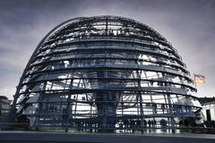 The Reichstag in Berlin in the evening Stock Photos