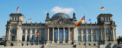 Reichstag Berlin. Front elevation of Reichstag, Berlin, Germany Stock Photography